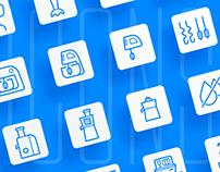Icon set for kitchen & home appliances