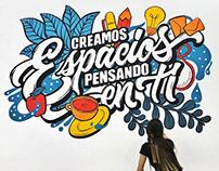 Lettering mural | Carvajal Espacios- Mepal