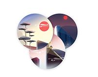 UI  illustration waterfall mountain icon