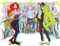 Editorial illustrations for Batenka