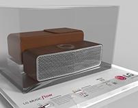 Bluetooth LG speaker (3D render)