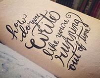 Lettering Doodles