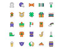 Ireland Icons Set