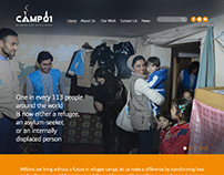 Camp 01, A Humanitarian Website