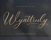 WYATTRULY LUXURY SCRIPT - FREE FONT