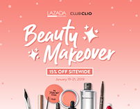 Club Clio PH | Beauty Makeover Lazada & FB Assets