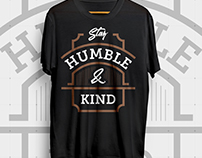 Stay Humble T-Shirt Design | Amazon
