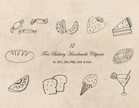 10 Free Bakery Handmade Cliparts