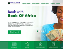 Bank Of Africa Web UI Design