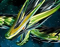 """""""Cosmic Tarragons"""" Artwork"""