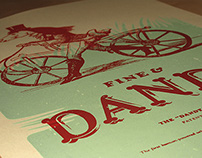 Hand screen printed poster