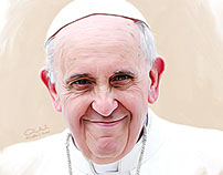 Pope Francis Digital Painting