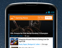 Newsfusion Apps widgets for Android and iOS