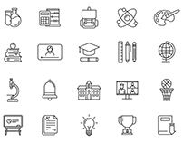 20 Back to School Vector Icons