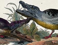 Crocoduck poster for 'Het Denkgelag'