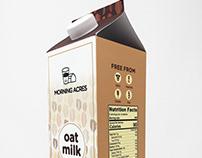 Morning Acres Oat Milk Packaging