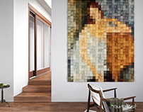 Mosaic painting on wooden panels Mosaic Trace