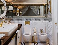 Ванная, коттедж в Ямном
