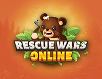 RESCUE WAR ONLINE GAME LOGO AND APP ICON DESIGN