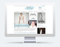 Web design for the wedding portal