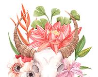 Flower scull