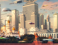 """Moscow City"" Scene in Detail"