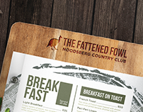 Menu Design and Layout : The Fattened Fowl