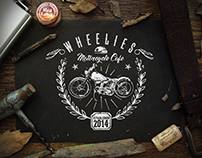 Wheelies Motorcycle Cafe: T-Shirt Design