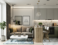 Apartment in Moscow with an area of 37 m2