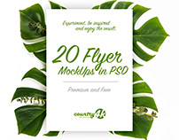 20 Premium and Free Flyer MockUps in PSD