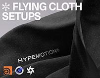 HM LABS 002: Flying Cloth Setups [Houdini/C4D/Octane]