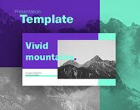 Vivid Mountains Presentation Template