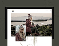 Berg Outdoor — Website Concept