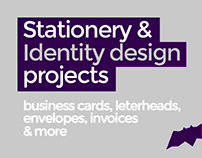 Stationery & Identity design projects