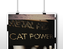 Cat Power Metal Heart Poster