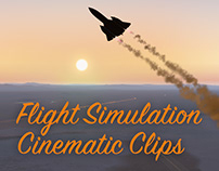 Flight Simulation Cinematic Clips