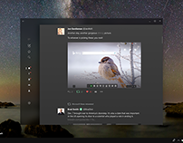 Windows 10 Fluent Design Twitter App Concept