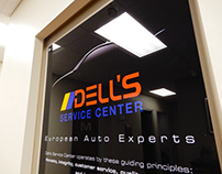 Dells Service Center Lobby Signage