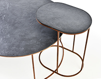 AIRWOOD CIRCLE CONCRETE COFFEE TABLES
