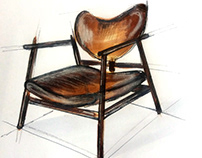 Sketch of furnitire, Скетчи наброски мебели