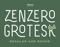 Zenzero Grotesk Sans Typeface