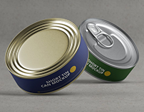 5+ Useful Short Tin Can Packaging Mockups