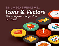 Icons & Vectors mega Bundle