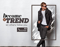 Social media posts for Scorus fashion brand
