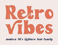 Retro Vibes Brand New Vintage Bold Font