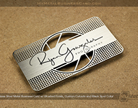 BRUSHED Stainless Steel Metal Business Card