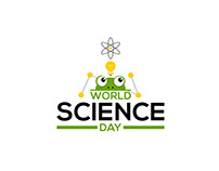 World Science Day Animation motion graphics poster
