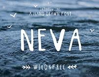 NEVA hand drawn font