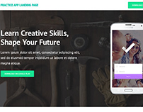 Tuts+ Mobile App Landing Page (Practice)