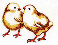 PLAYFUL VIBRANT CHICKS DIGITAL EMBROIDERY DESIGN